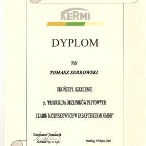 Dyplom KERMI Tomasza Serkowskiego